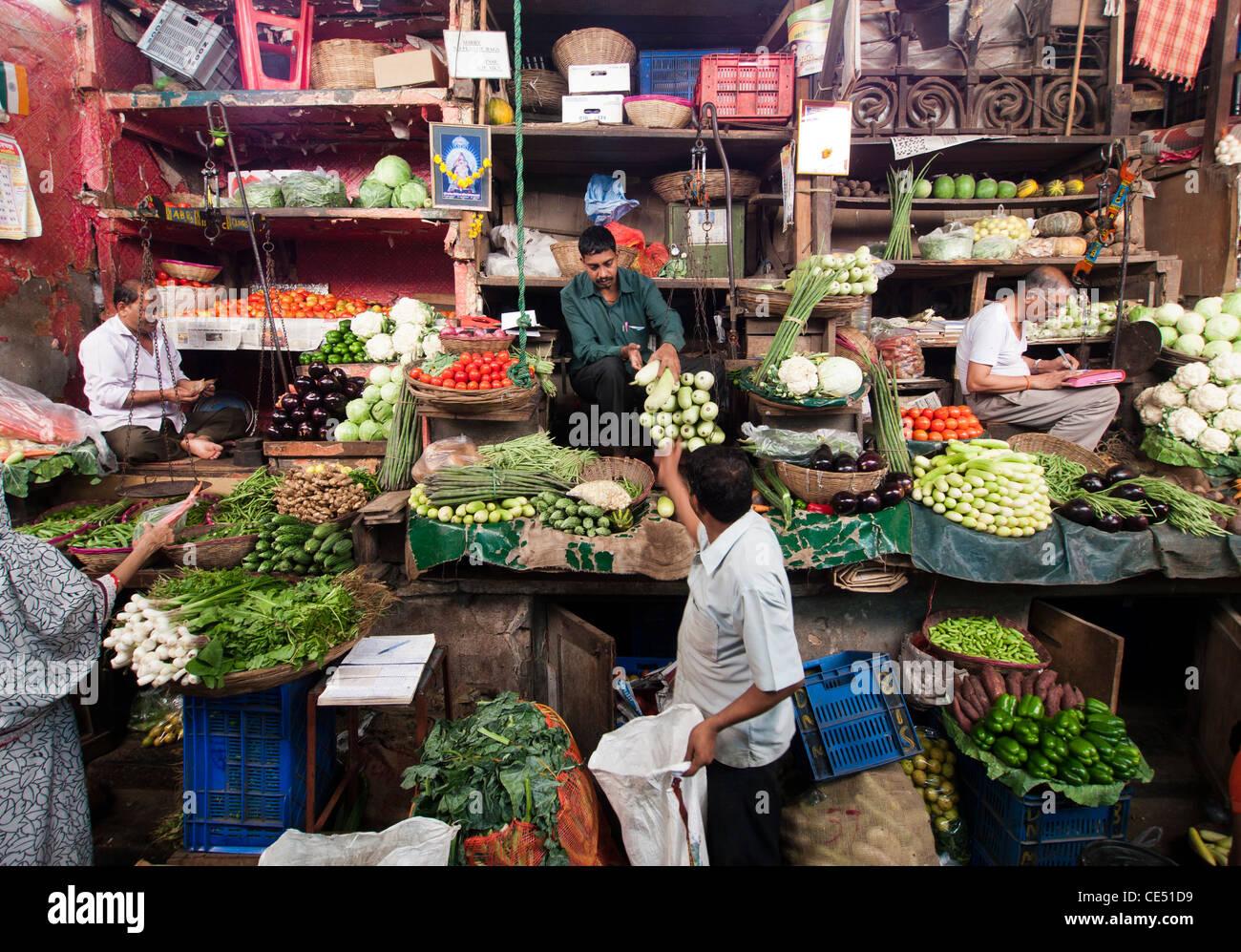 Crawford Market in Mumbai India - Stock Image