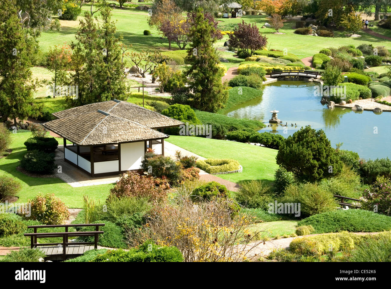 A scene from the Cowra Japanese Gardens, New South Wales, Australia - Stock Image