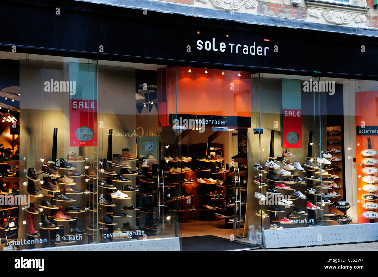 Sole Trader Shoe Shop, Cambridge, England, UK - Stock Image