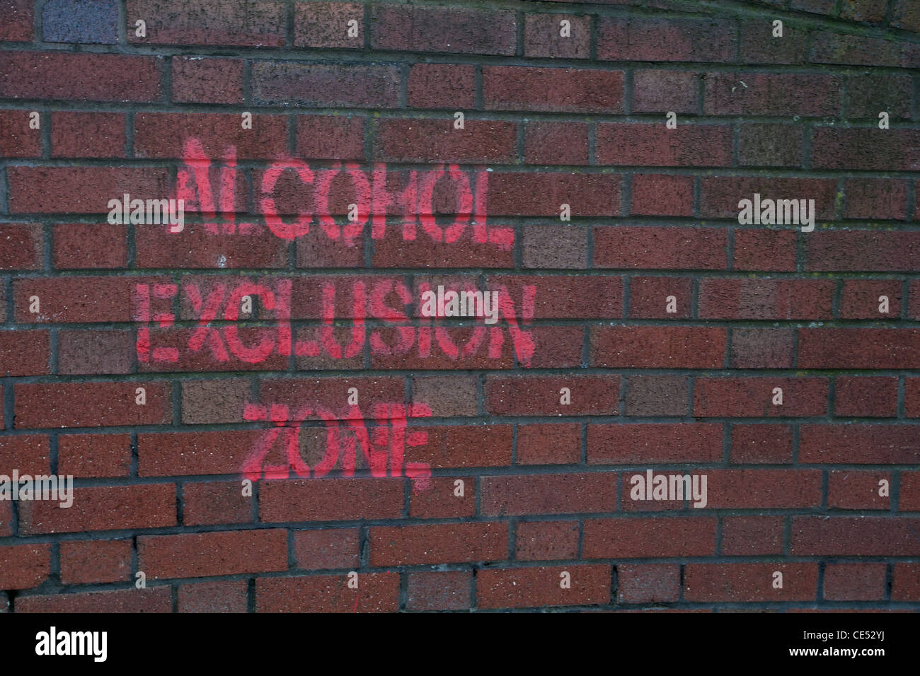 Alcohol Exclusion zone - Stock Image