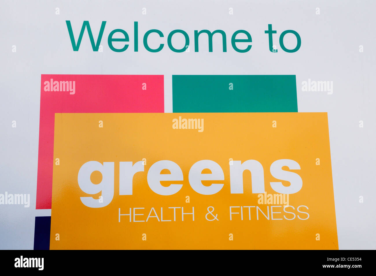 Welcome to Greens Health and Fitness Centre, Coldhams Lane, Cambridge, England, UK - Stock Image