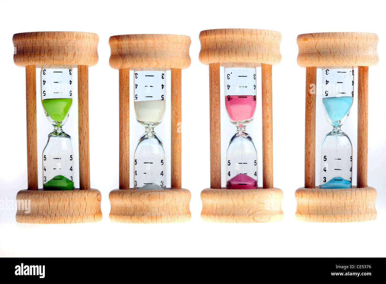 Hourglass, analog timing through slowly running sand. - Stock Image