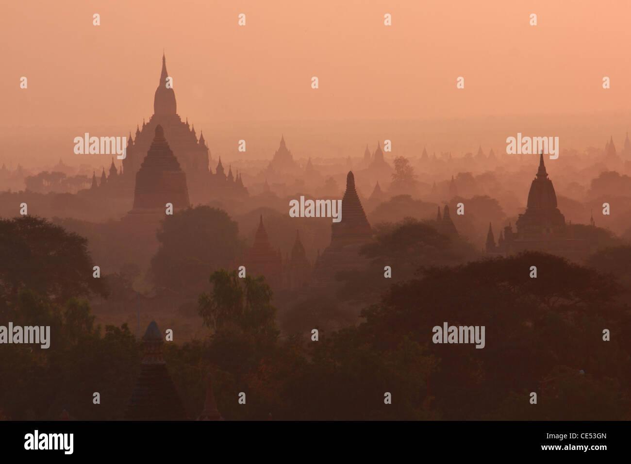 Pagodas , Bagan, Myanmar Stock Photo