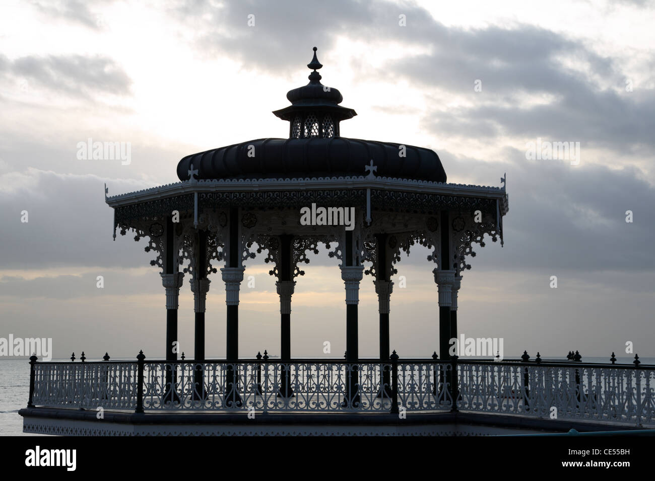 Brighton Bandstand known as 'The Birdcage' Stock Photo