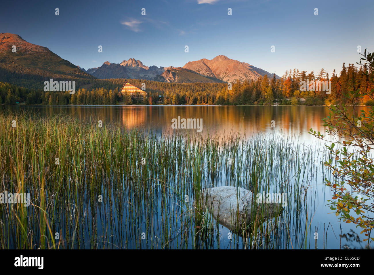 Strbske Pleso Lake in the Tatra Mountains, Slovakia, Europe. Autumn (October) 2011. - Stock Image