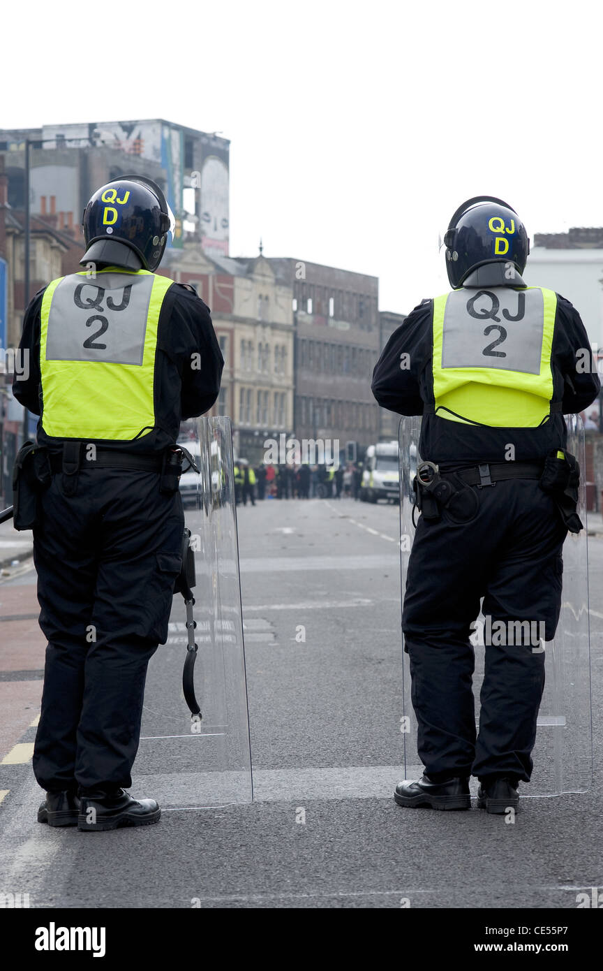 Riot Police on Stokes Croft, Bristol, UK - EDITORIAL USE ONLY - Stock Image