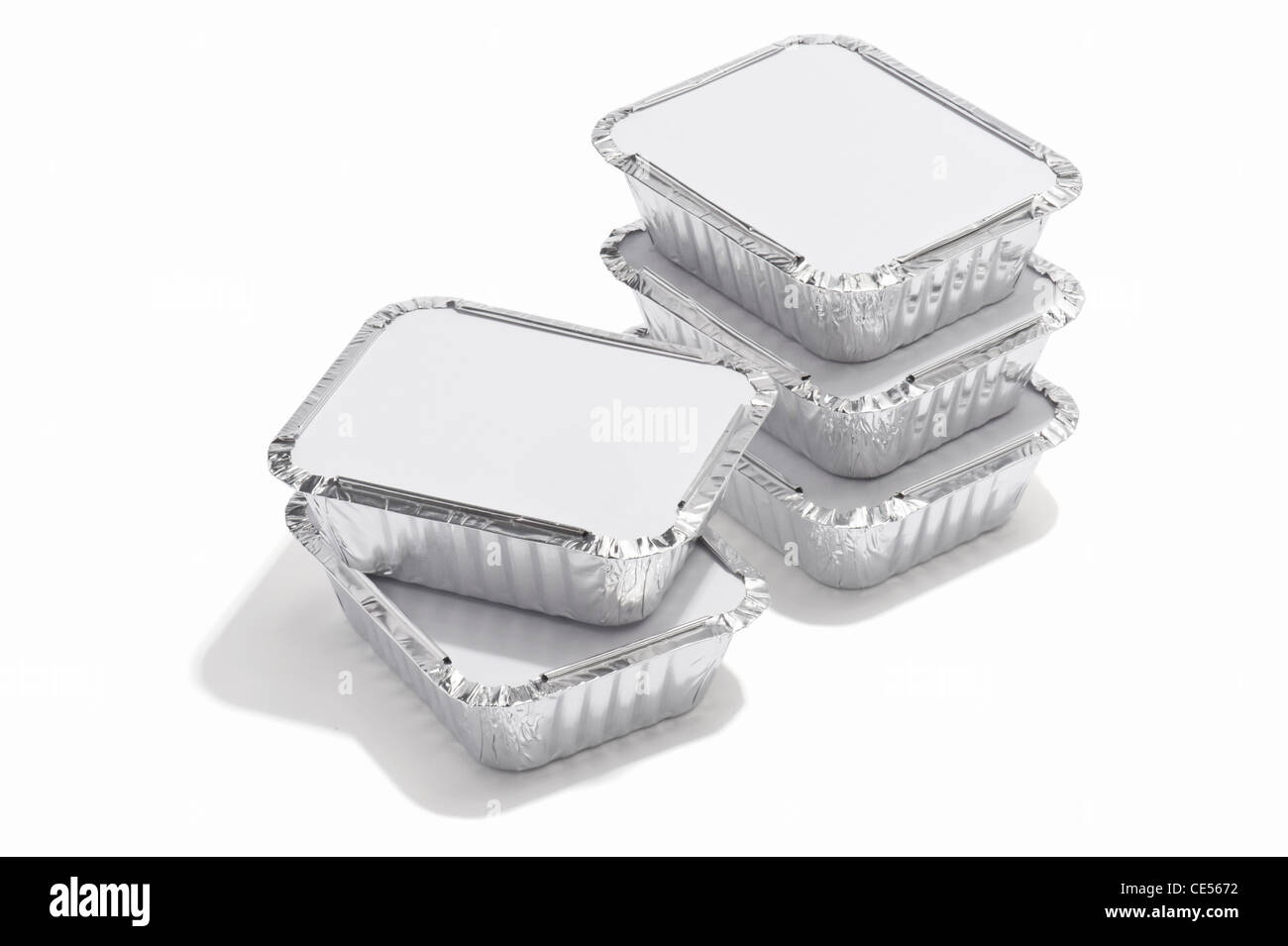 Foil food containers - Stock Image