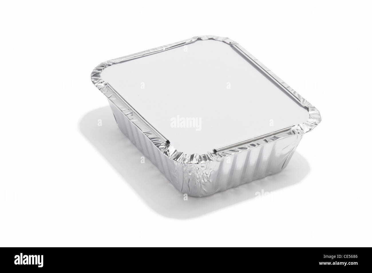A foil food container - Stock Image