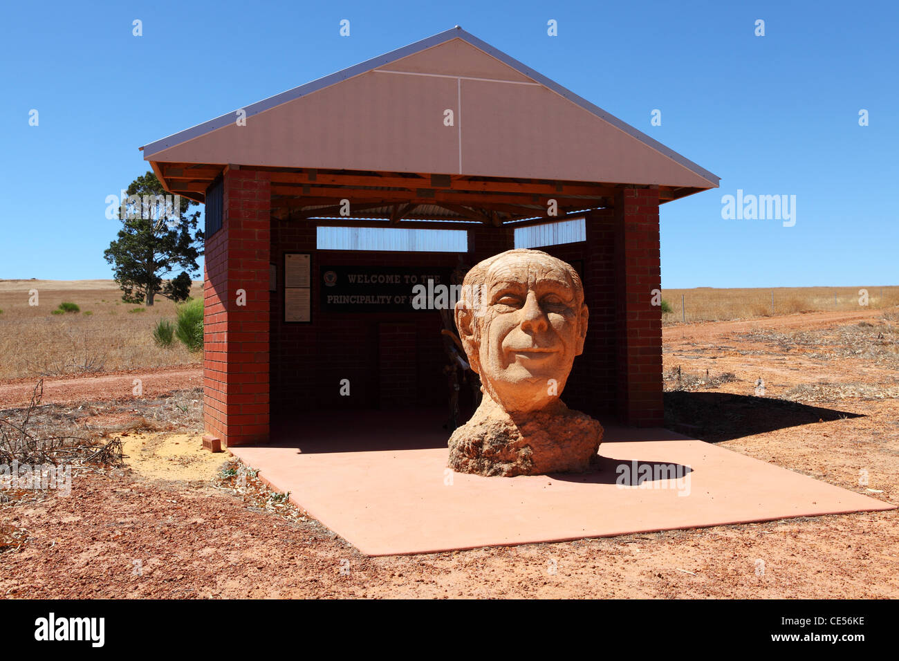 Statue of Prince Leonard at the Principality of Hutt River, within Western Australia. Stock Photo