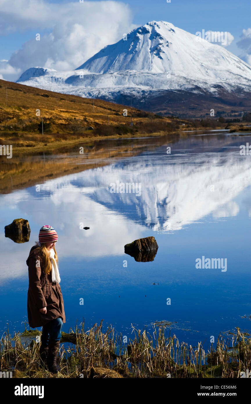 Errigal Mountain, Donegal, Ireland - Stock Image