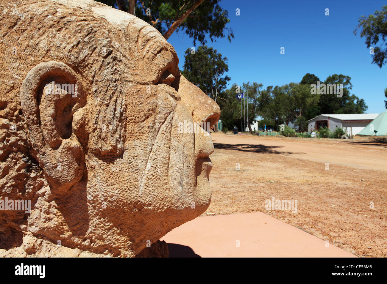 Statue of Prince Leonard at the Principality of Hutt River, within Western Australia. - Stock Image