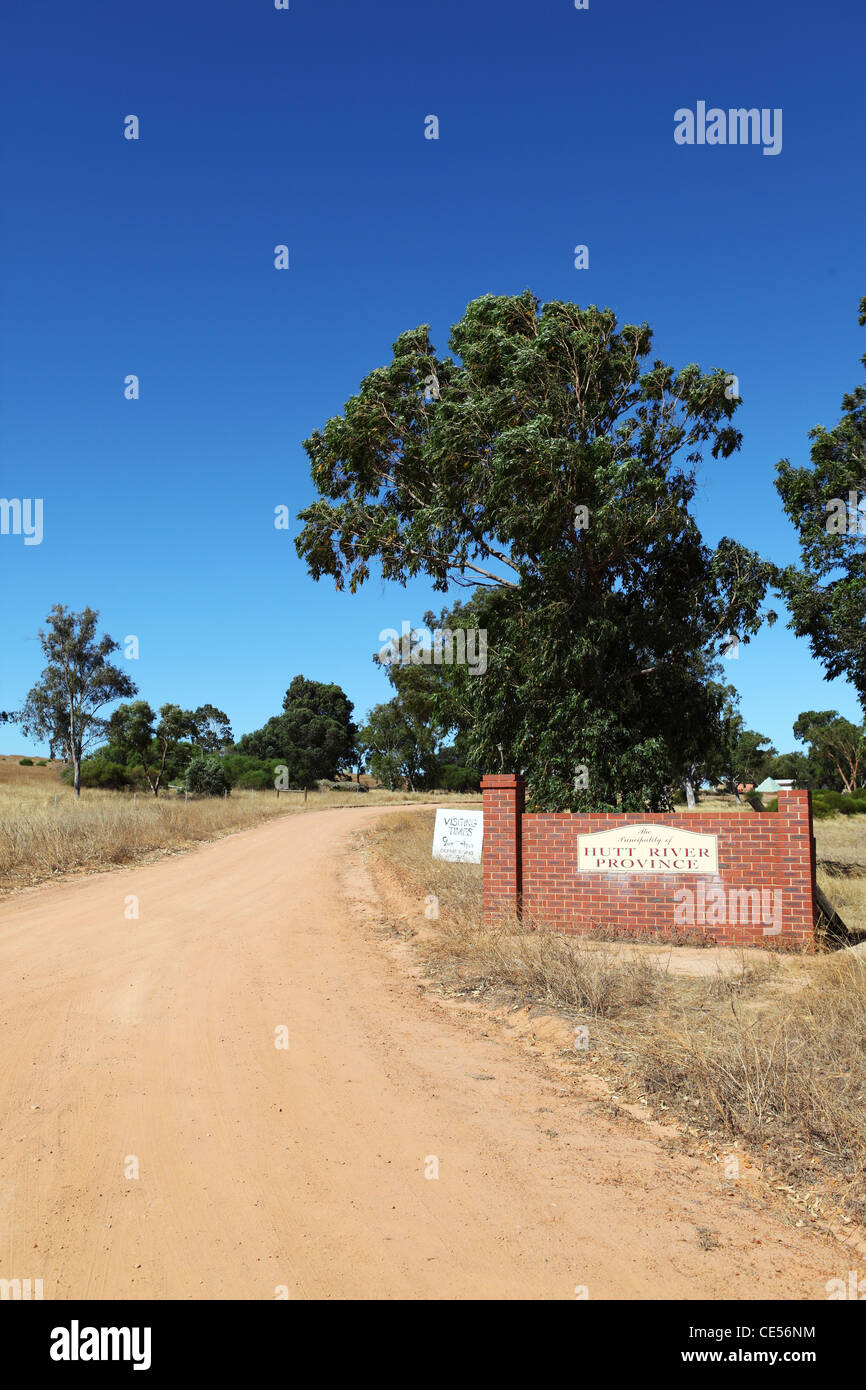 Entrance to the Principality of Hutt River, within Western Australia. Stock Photo