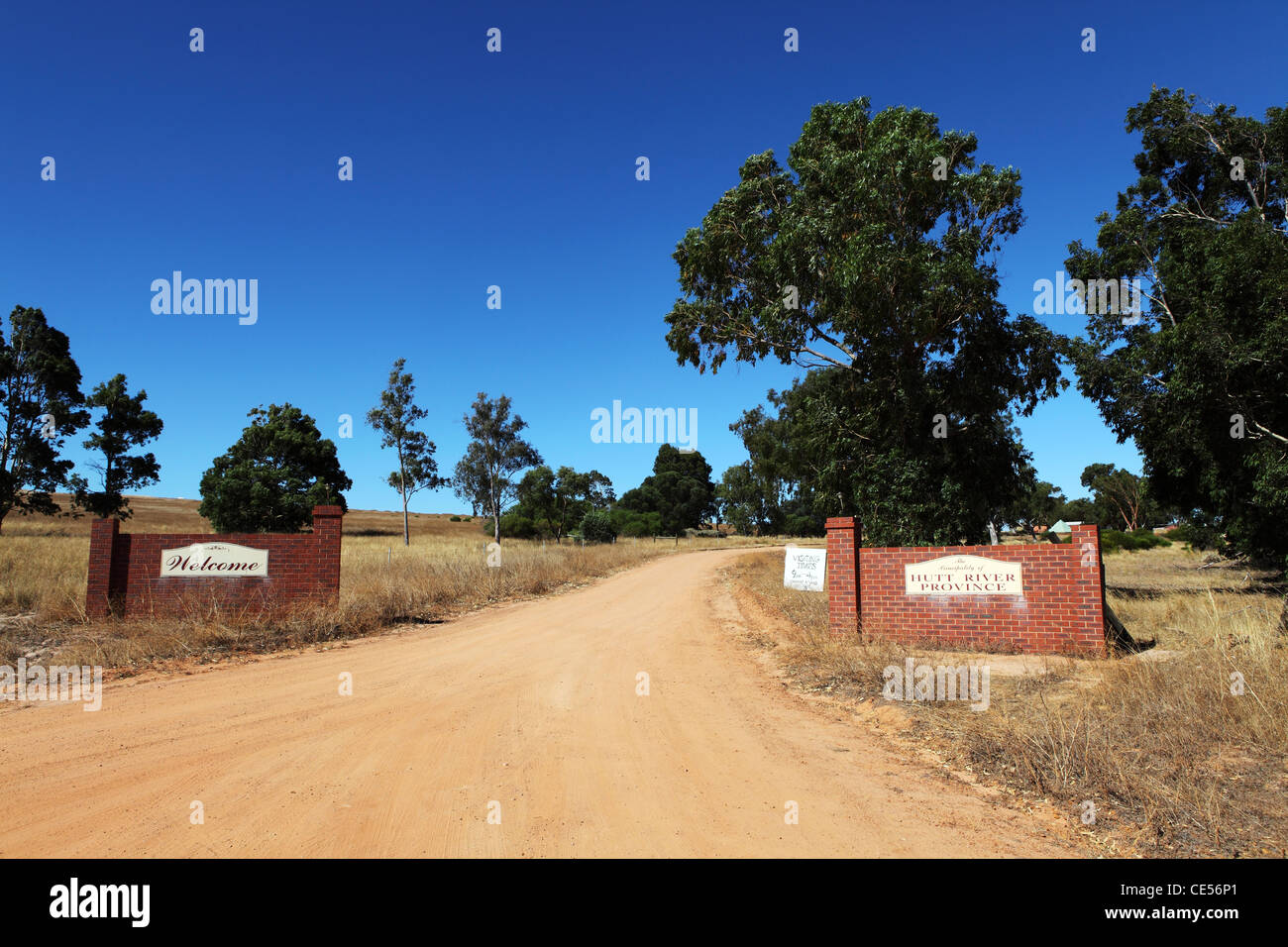 Entrance to the Principality of Hutt River, within Western Australia. - Stock Image