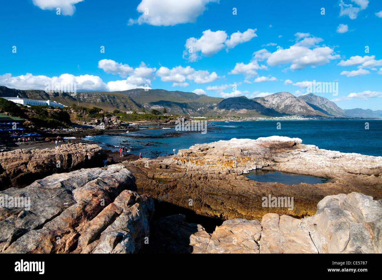 Hermanus coastline, South Africa - Stock Image