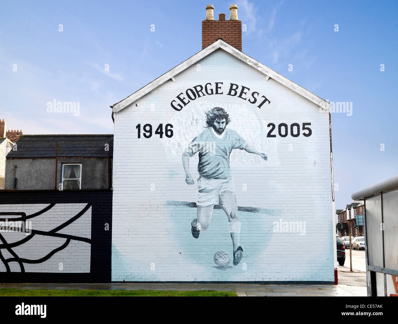 Belfast Wall Murals, Northern Ireland - Stock Image