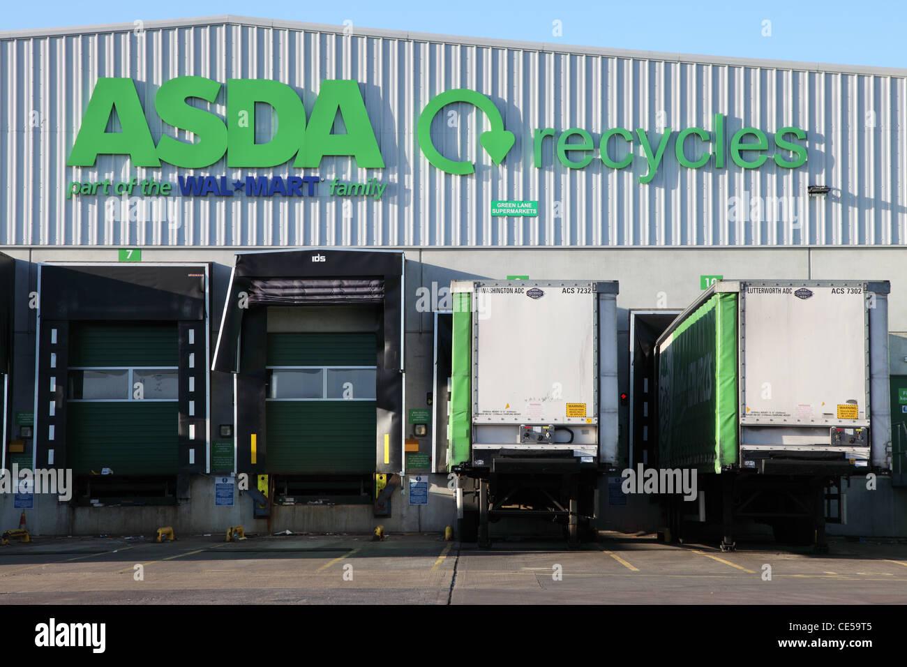 Asda Wallmart Ambient Distribution Centre Washington north east England UK - Stock Image