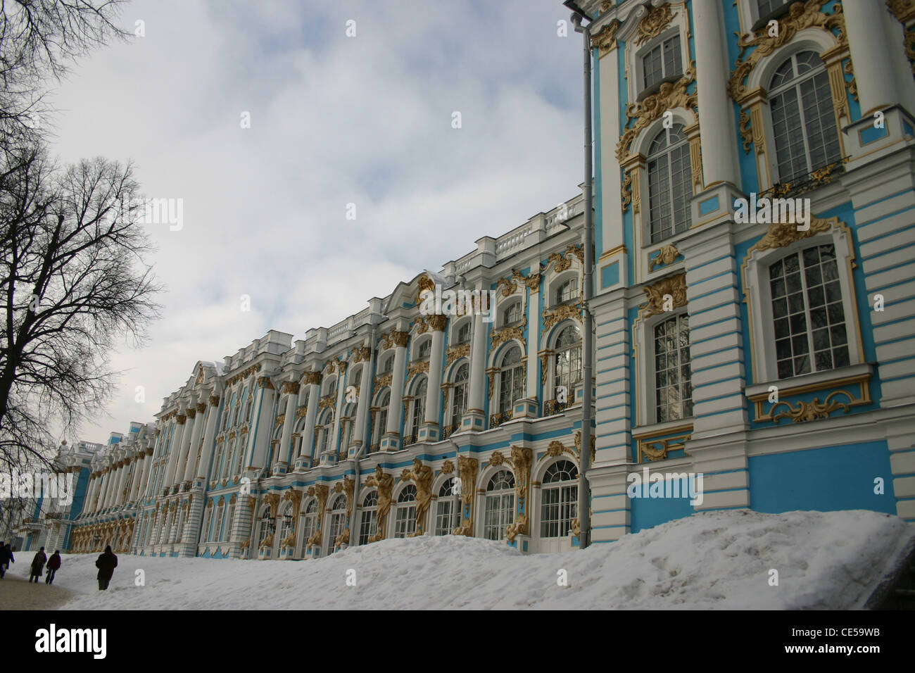 The Catherine Palace was the Rococo summer residence of the Russian tsars. Stock Photo
