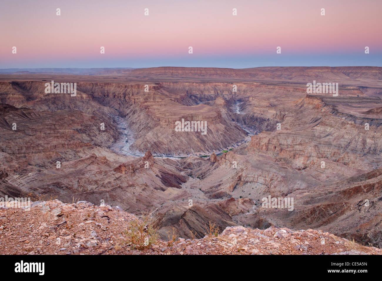 Fish River Canyon in southern Namibia at dawn. - Stock Image