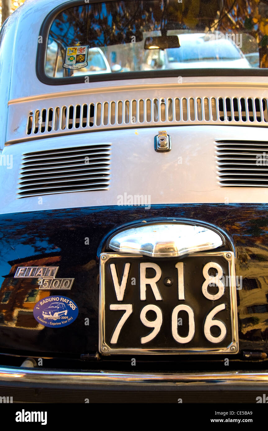 Fiat 500, Verona, Italy - Stock Image