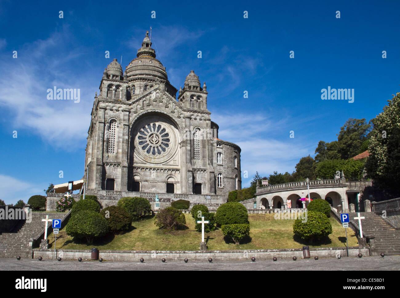 Portugal, Viana do Castelo.  The Basilica de Santa Luzia was built in 1919 on a hill above the town Stock Photo