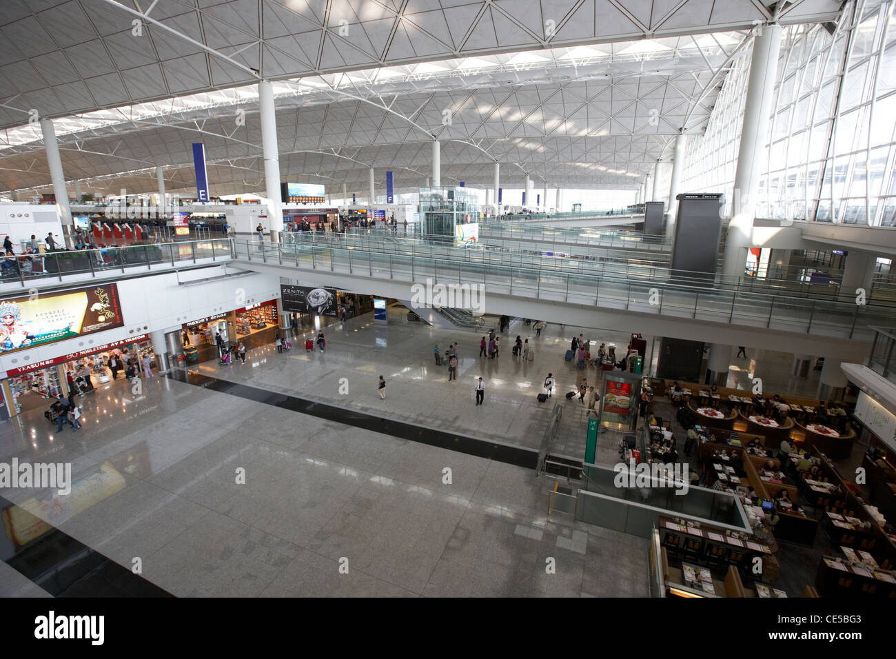 hong kong international airport chek lap kok hksar china asia Stock Photo