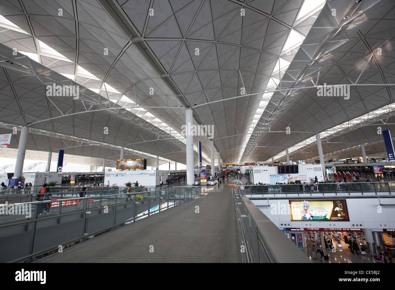 roof of hong kong international airport chek lap kok hksar china asia - Stock Image