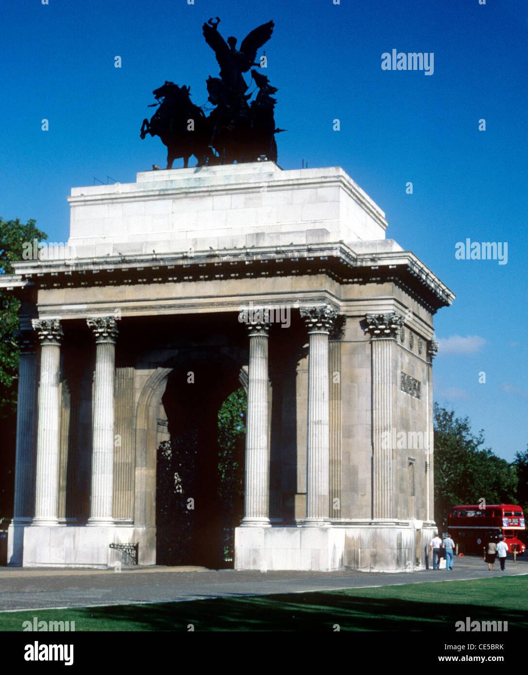 Constitution Arch, Wellington Arch, Hyde Park Corner, London England UK - Stock Image