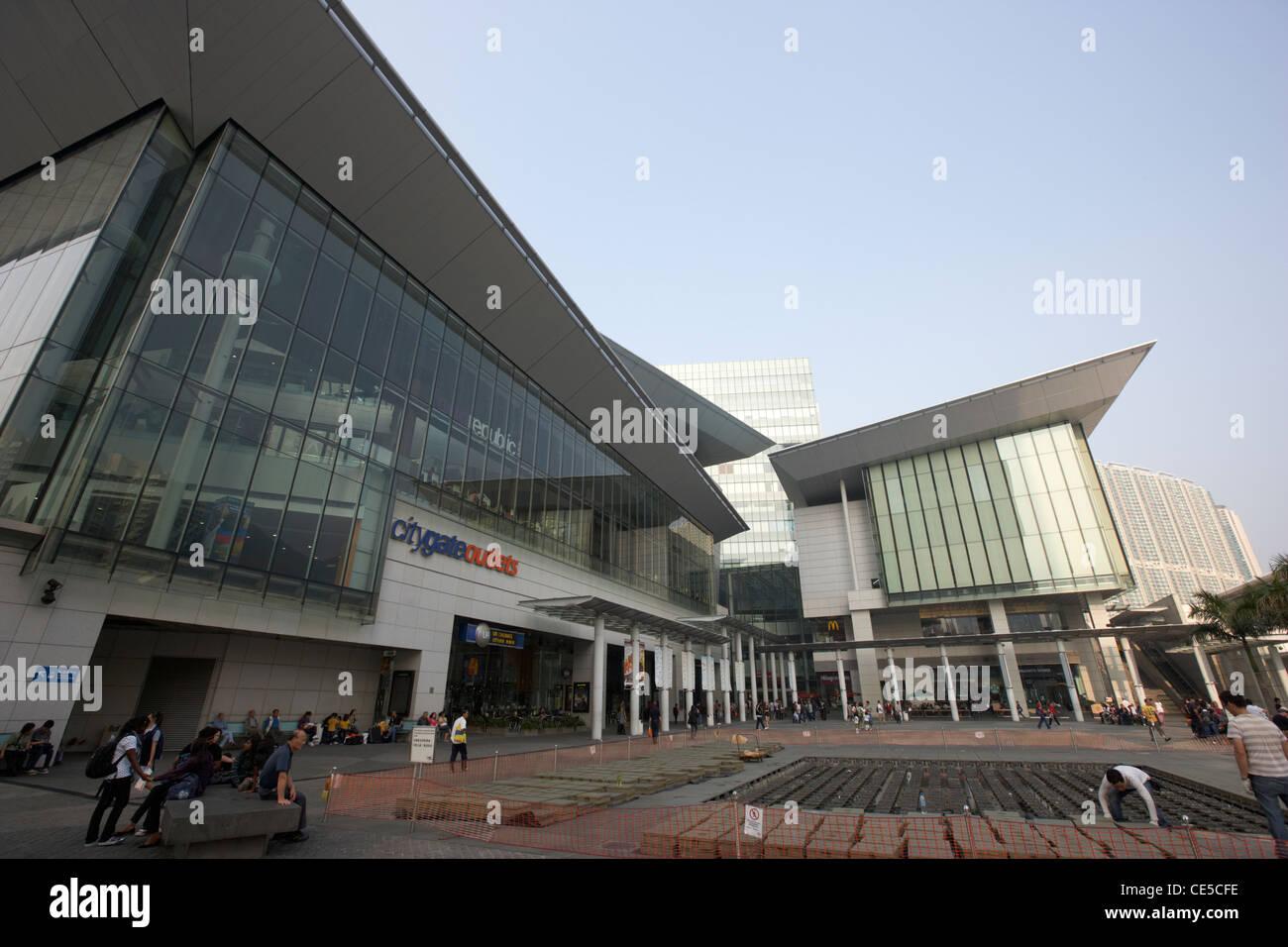 citygate outlets tung chung lantau island hong kong hksar china asia - Stock Image