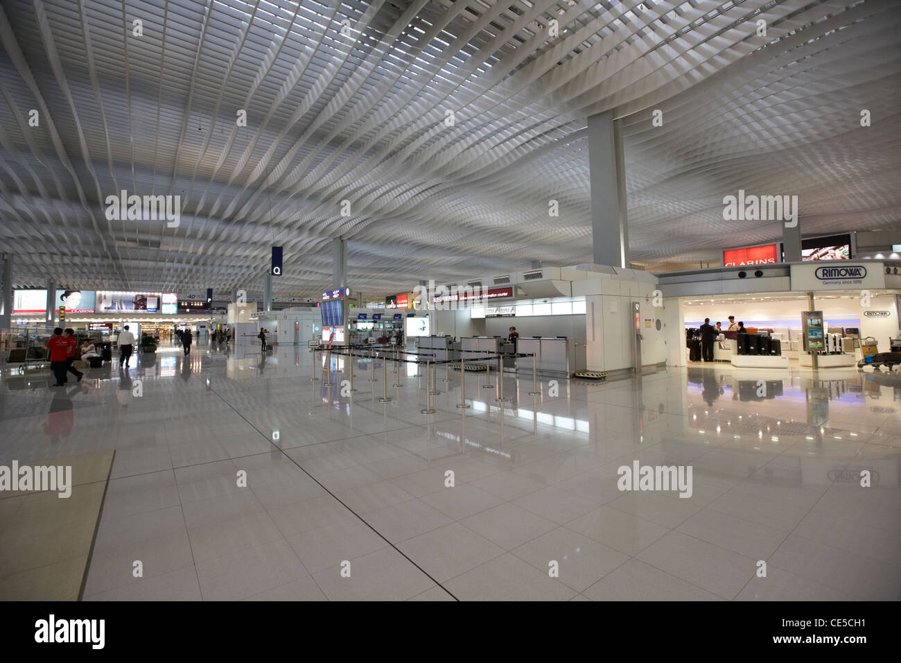 hong kong international airport chek lap kok hksar china asia - Stock Image