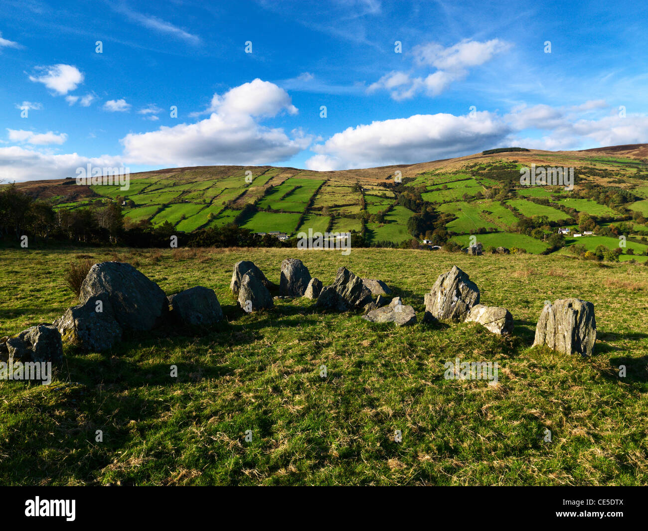 Ossian's Grave, Glenaan, County Antrim, Northern Ireland Stock Photo