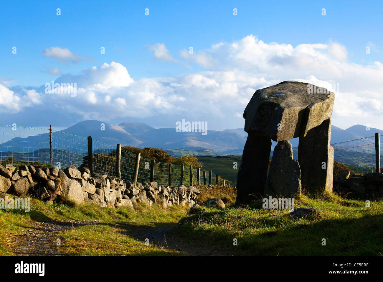 Legananney Dolmen, County Down, Northern Ireland - Stock Image
