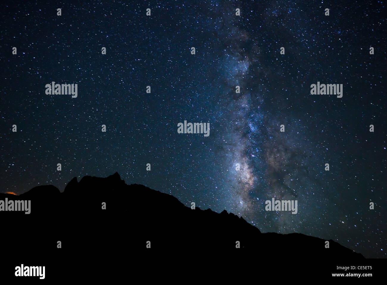Night Sky, Bright Stars and Milky Way Galaxy - Stock Image