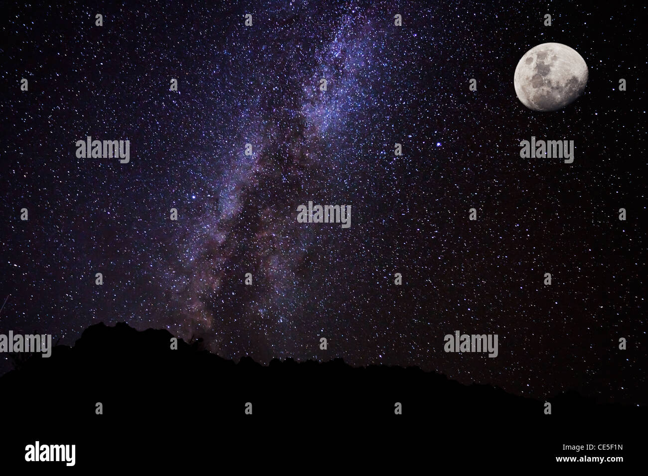 Stars in the Night Sky, Milky Way Galaxy - Stock Image
