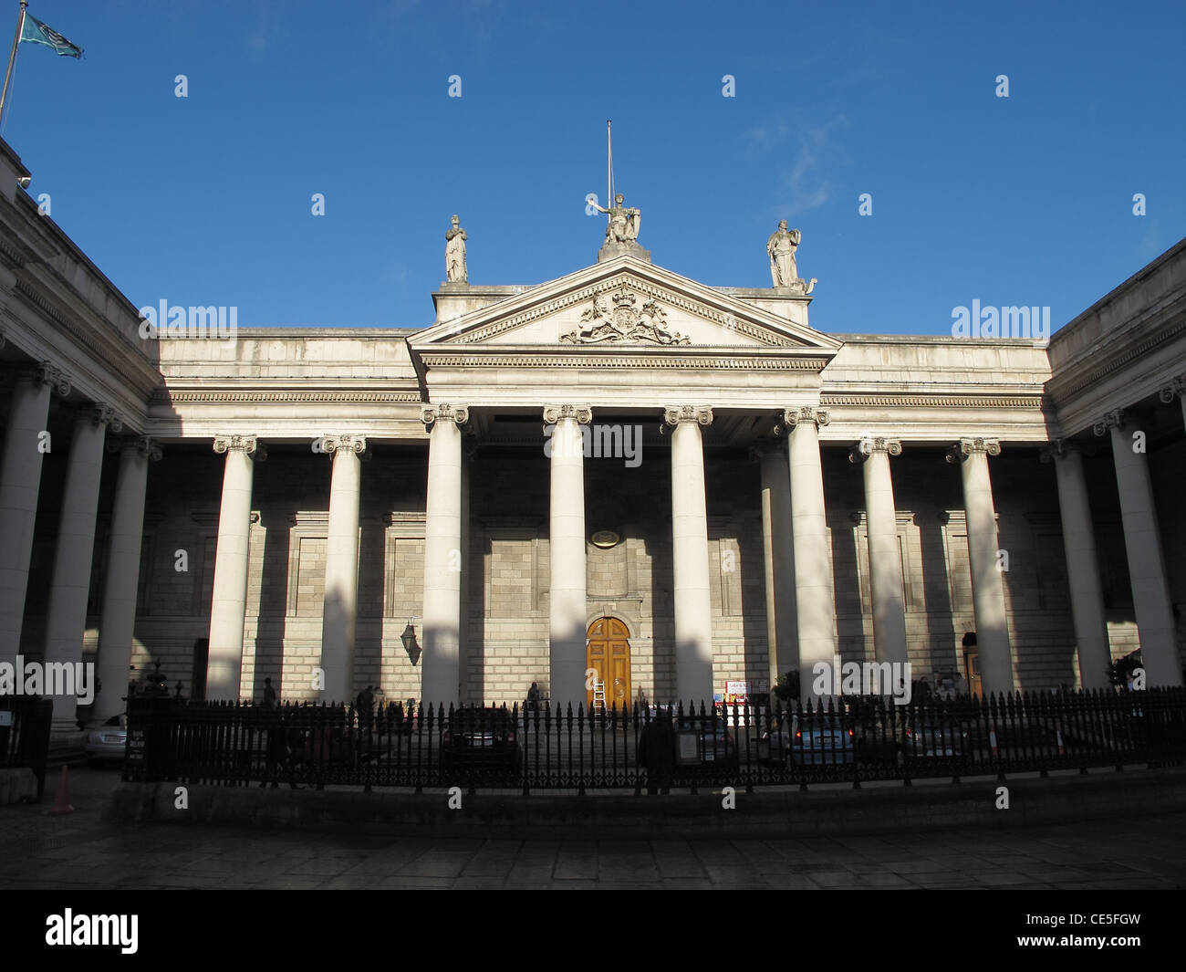 The Bank of Ireland Building in College Green, Dublin, Ireland Stock Photo