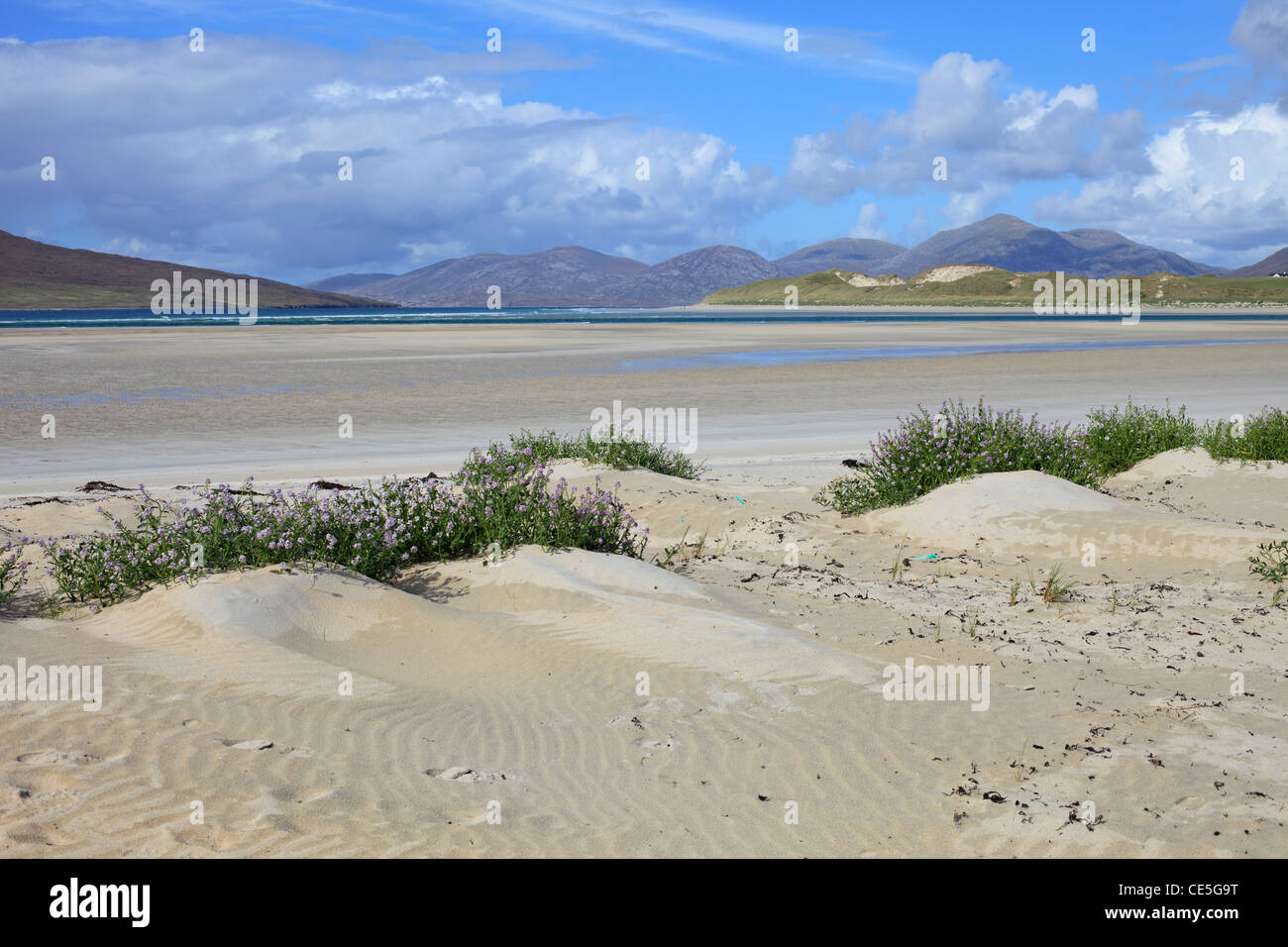 Beach at Seilebost, Isle of Harris, Outer hebrides, Scotland - Stock Image
