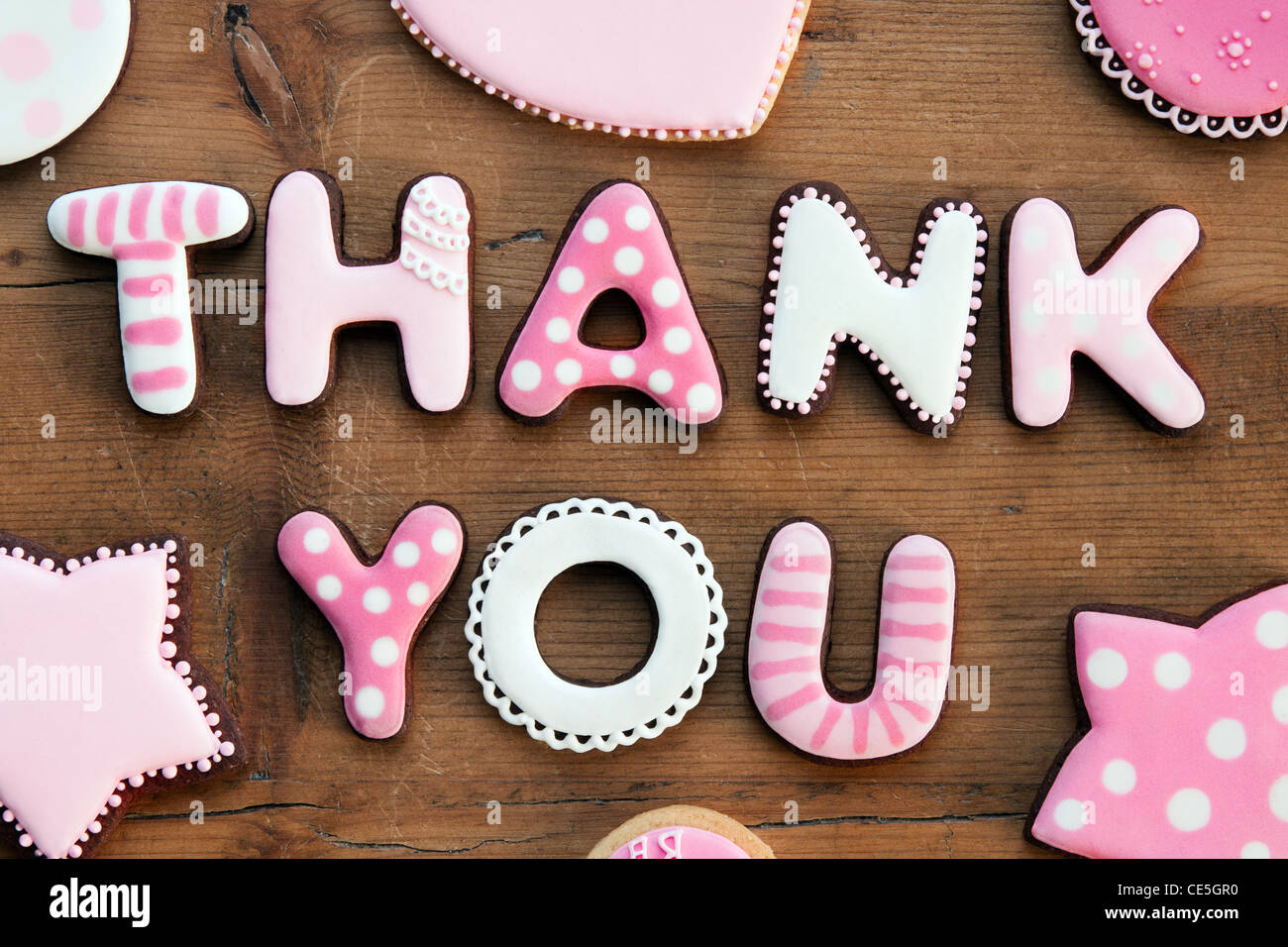 Thank you cookies - Stock Image