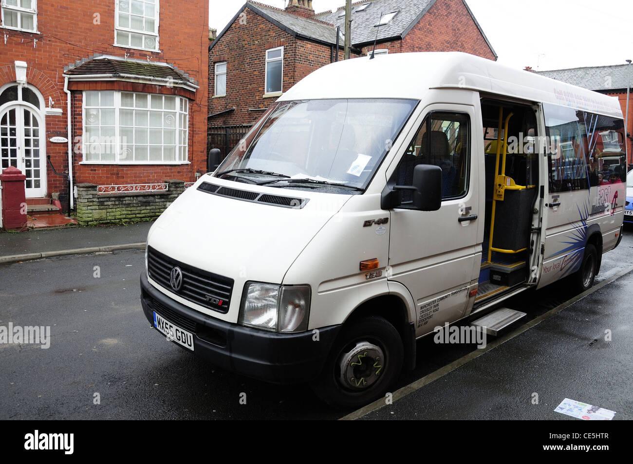 Community transport minibus - Stock Image