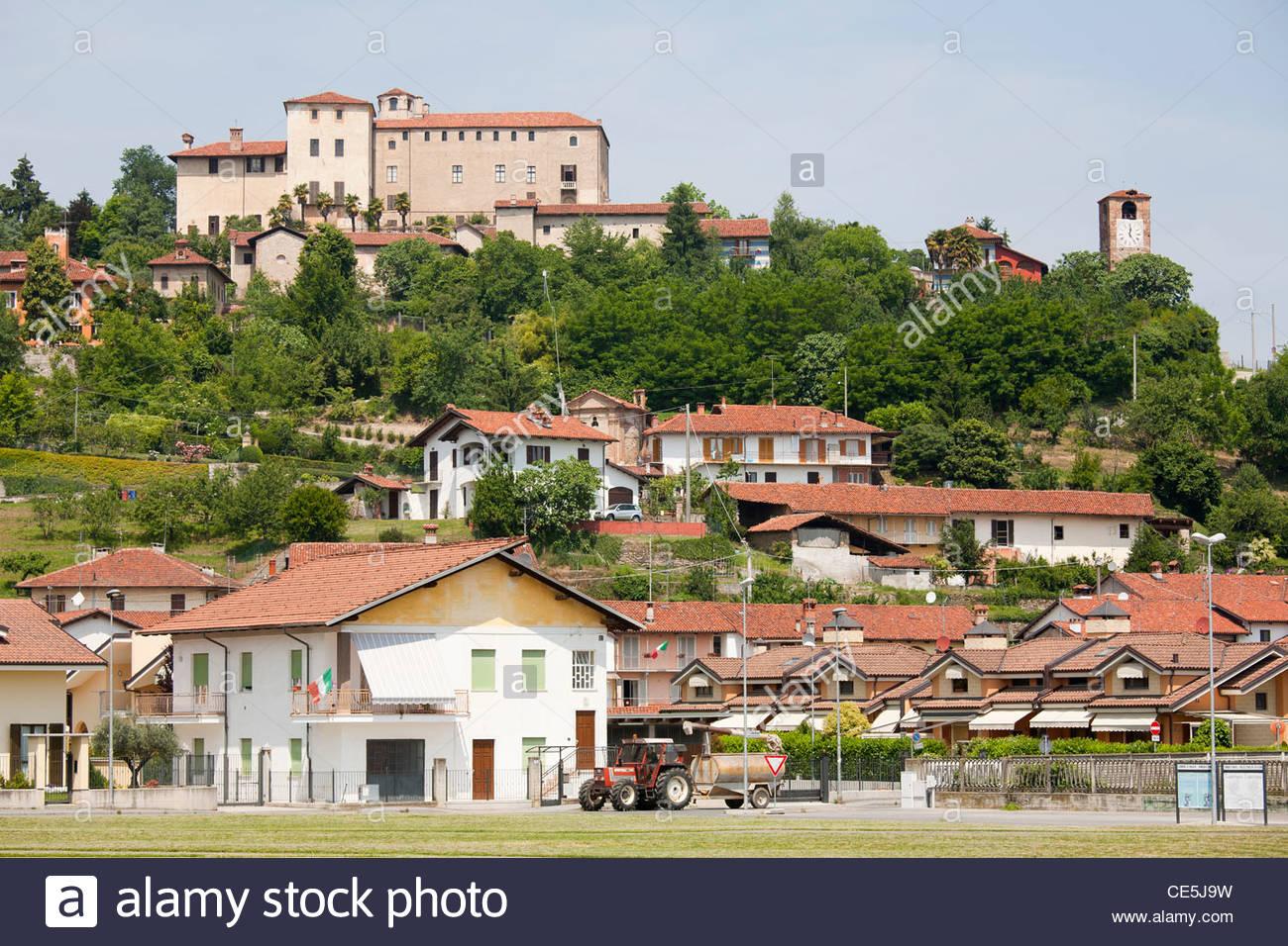 manta village,langhe,piemonte,italy,europe Stock Photo