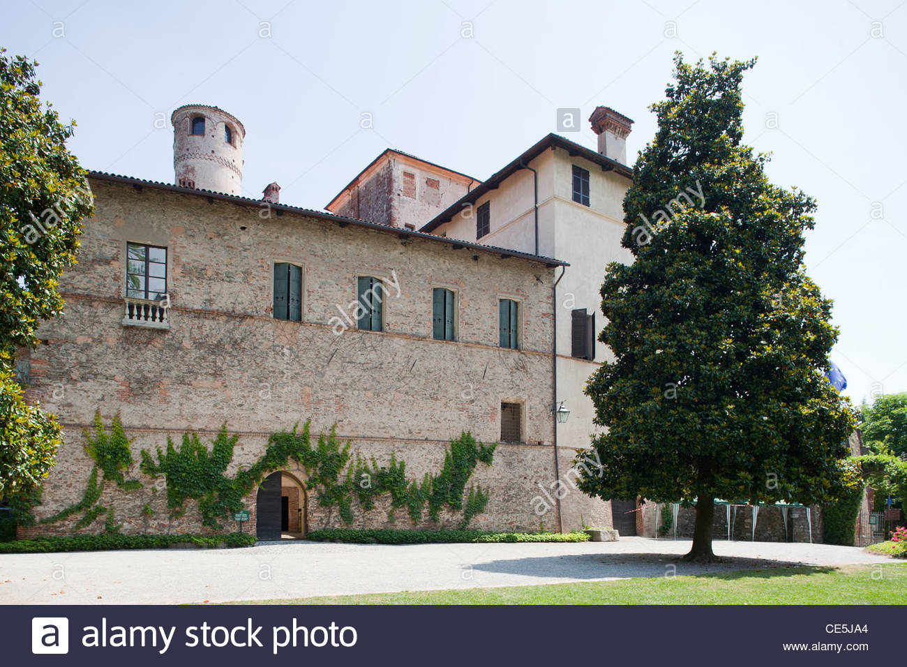 castle of the manta,langhe,piemonte,italy,europe Stock Photo