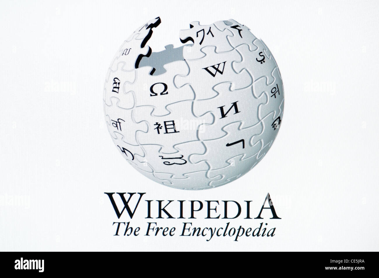 Wikipedia the Online Encyclopedia, Screenshot. - Stock Image