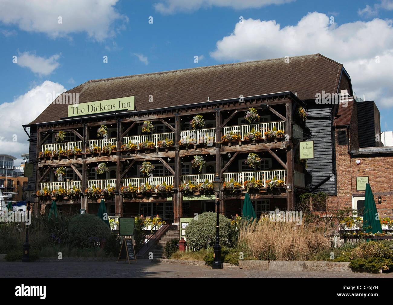 The Dickens Inn, St. Katharine's Dock, London, England, UK - Stock Image