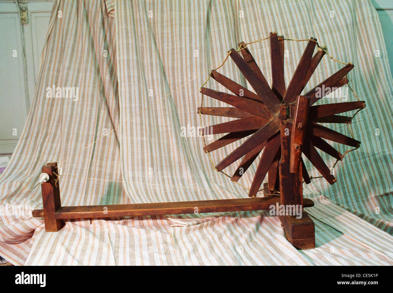 Mahatma Gandhi charkha spinning wheel India Stock Photo: 43150626