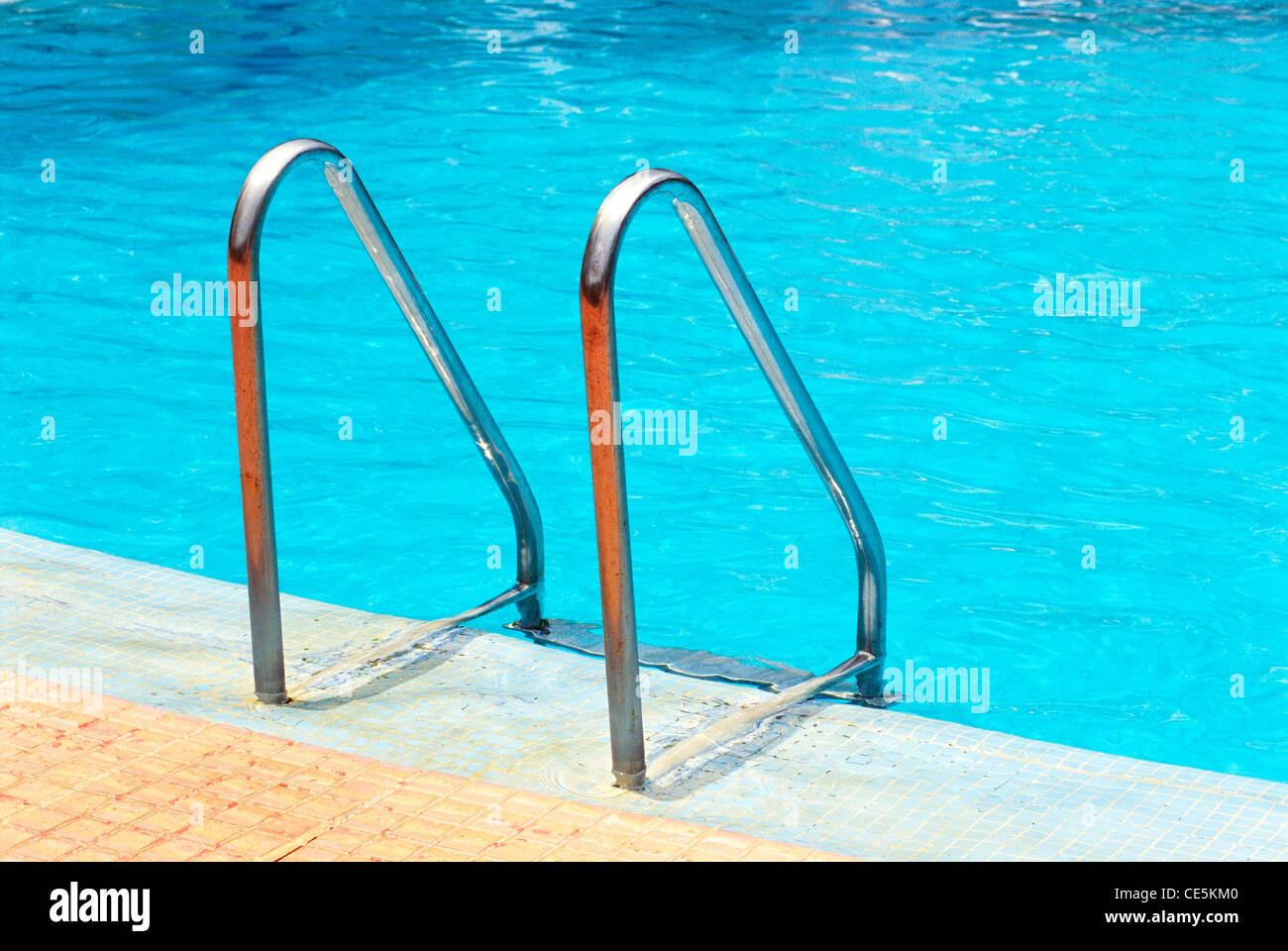 Stainless Steel Metal Handrail Hand Rail Swimming Pool Stock Photo 43151136 Alamy