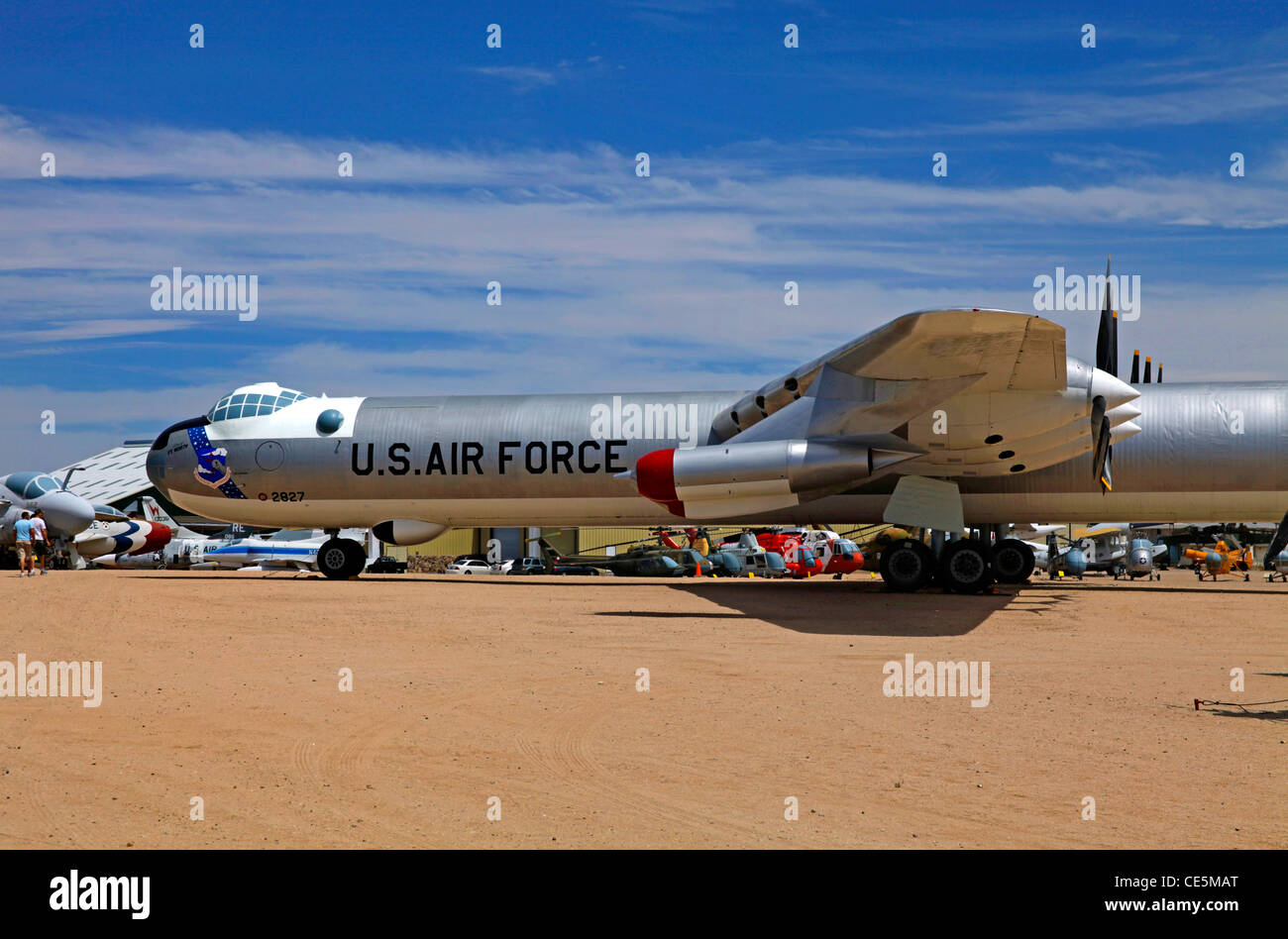 The Convair B-36 Peacemaker strategic bomber aircraft on display at Pima Museum - Stock Image
