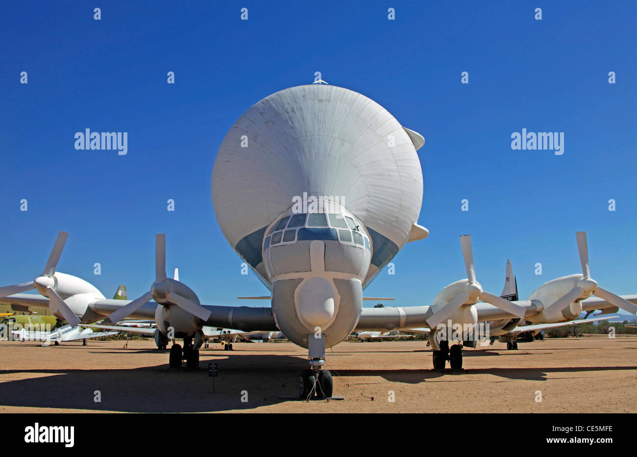 The Super Guppy Cargo Aircraft of NASA on display at Pima Museum - Stock Image