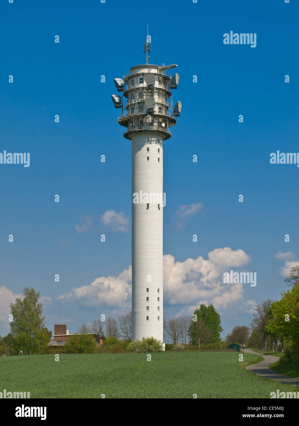 Radio tower, Petkus, administrative district Teltow-Flaeming, Brandenburg, Germany, Europe - Stock Image