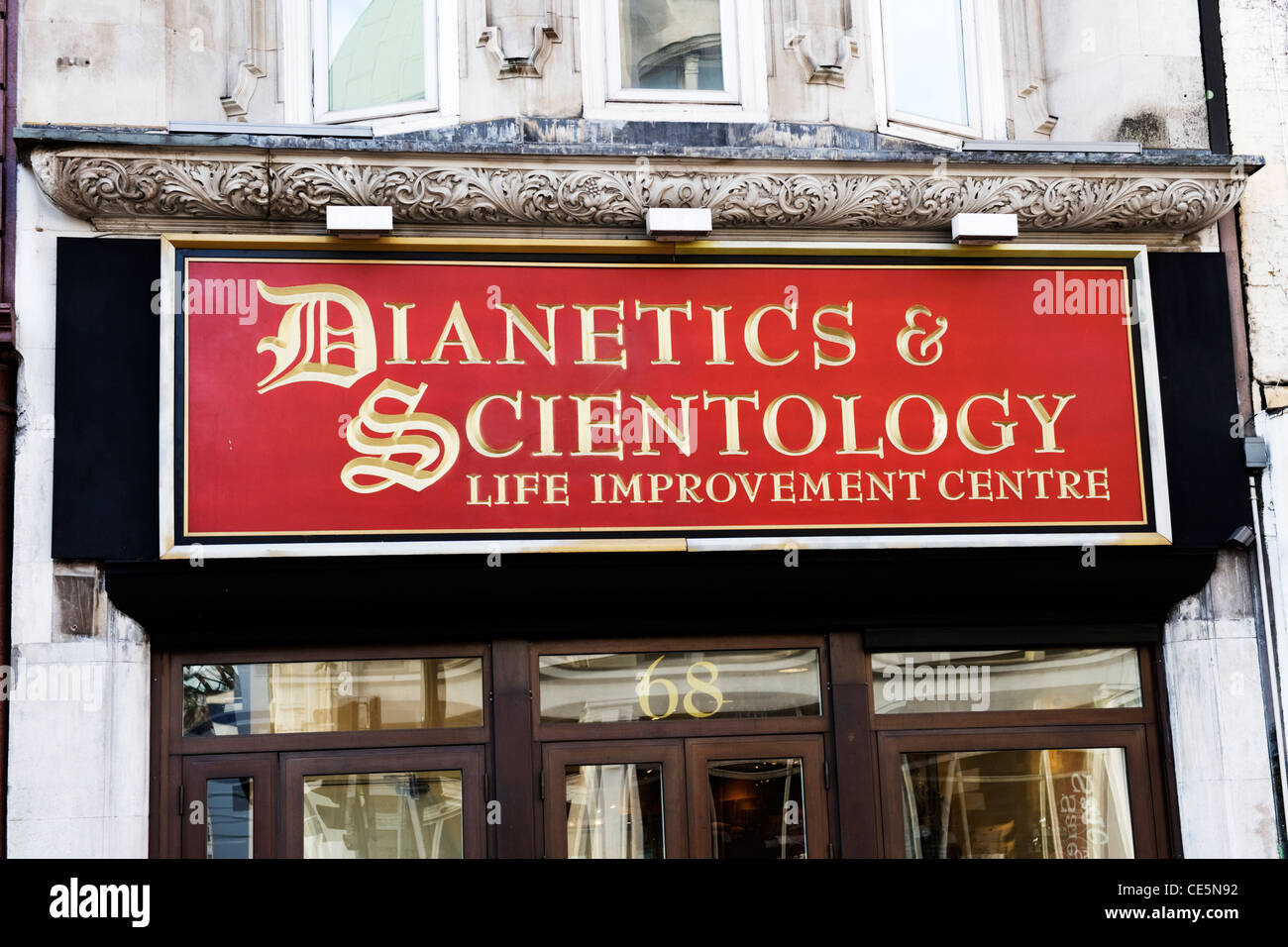 Tottenham Court Road West End London offices Life Improvement Centre of the controversial Dianetics & Scientology - Stock Image