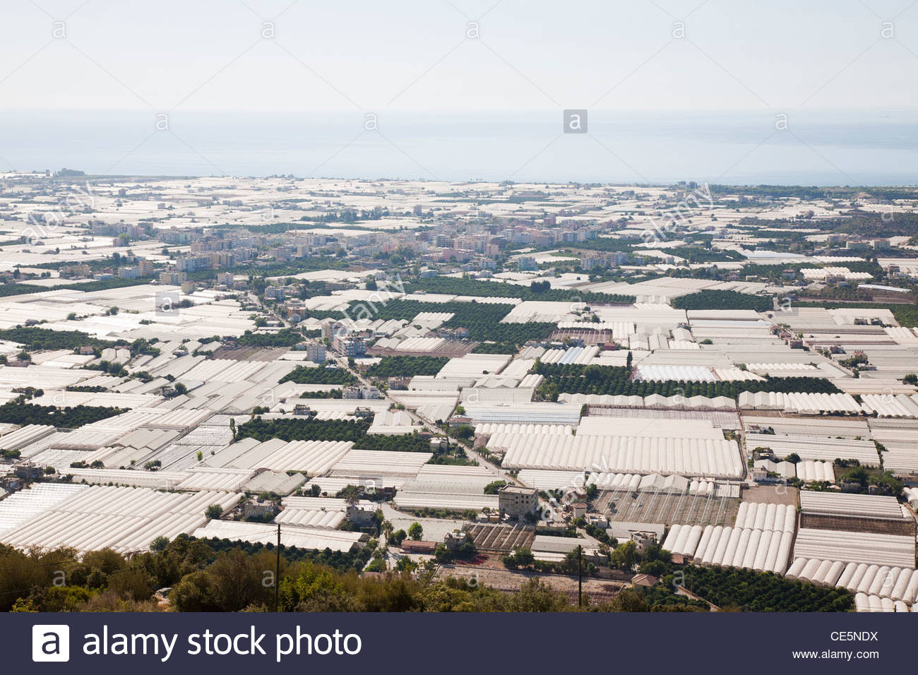 greenhouses,kale or demre,mediterrean coast,turkey,asia - Stock Image