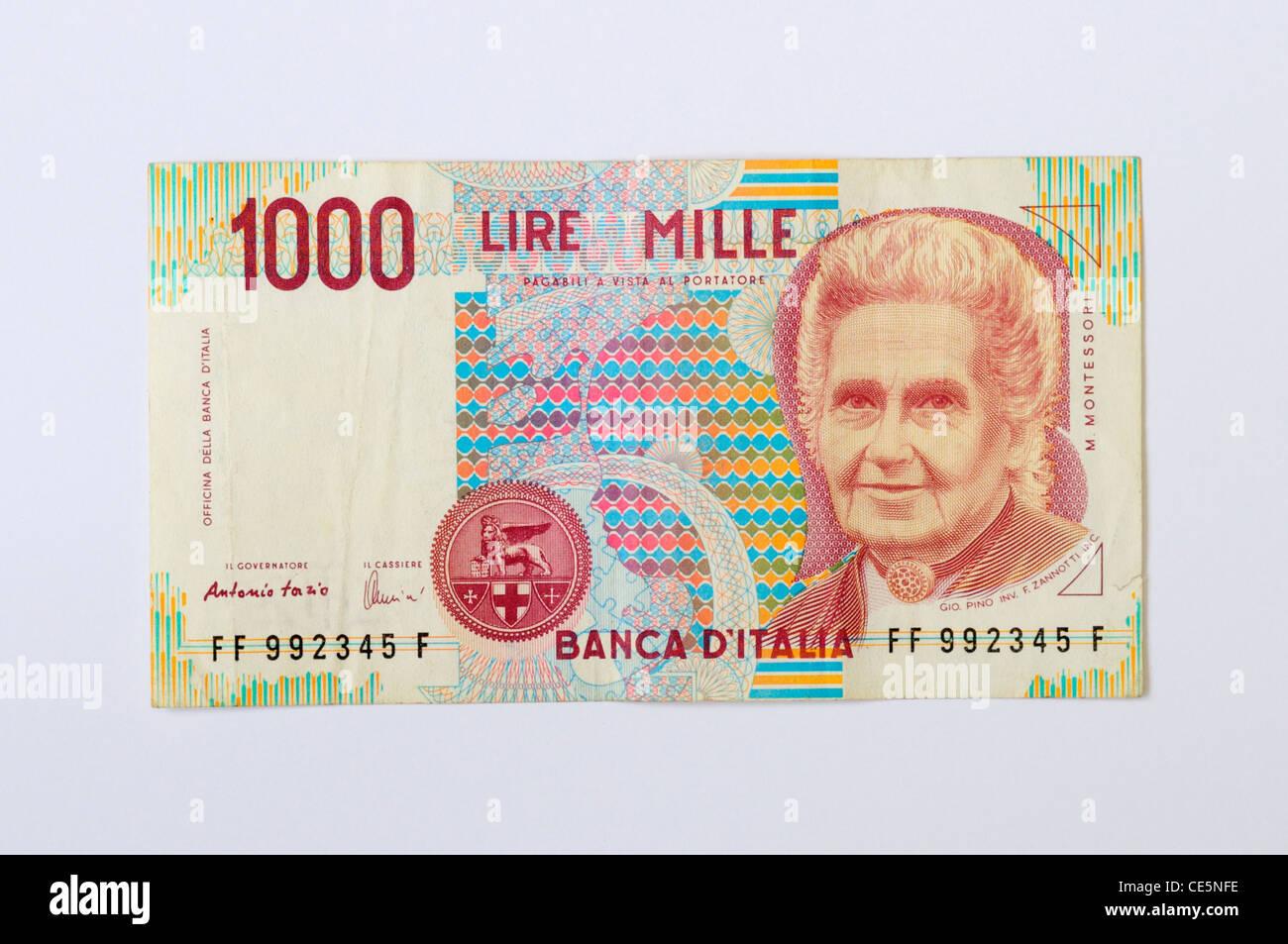 Italian Lira Banknote Stock Photos Italian Lira Banknote Stock