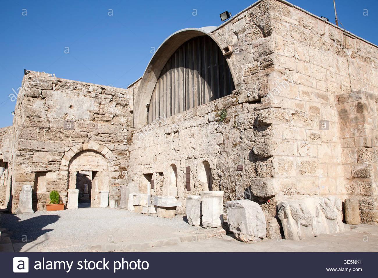 archaeological museum,side,mediterrean coast,turkey,asia - Stock Image